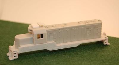 N Scale Trains, GP7 U Topeka Cab w/o DB Locomotive Shell, by CMR Products