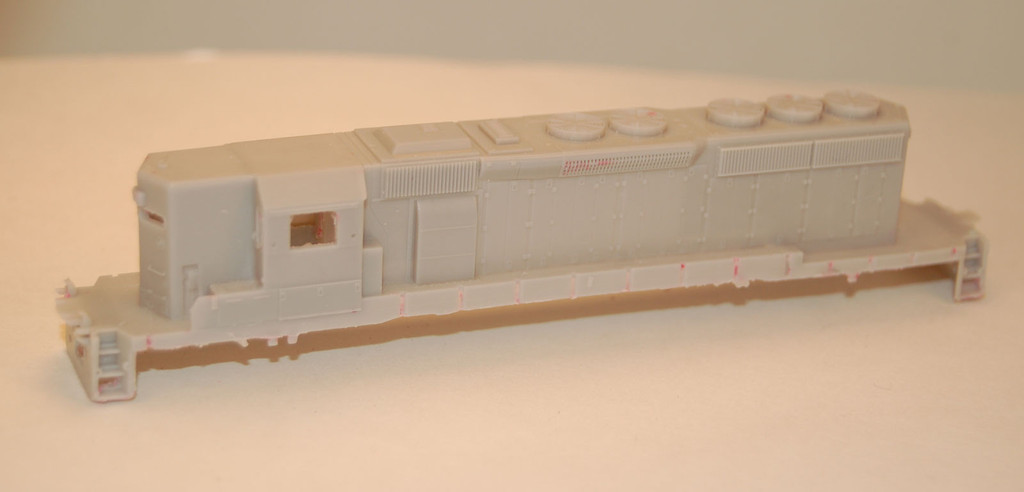 N Scale Trains, SD40-2 High Hood w/ DB Locomotive Shell, by CMR Products