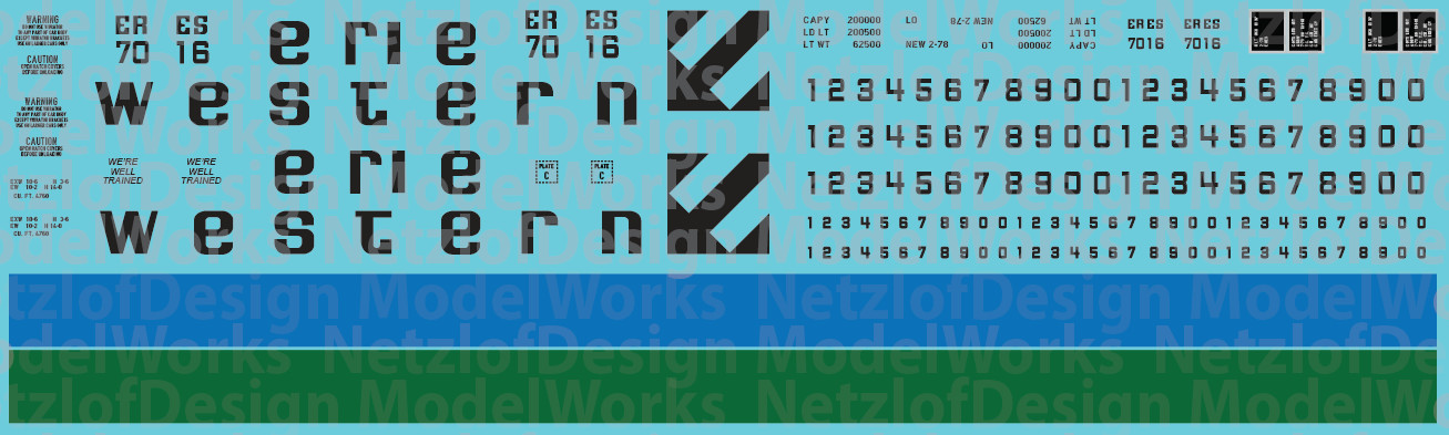 N Scale - Erie Western Covered Hopper Decals (ERES)