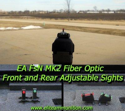 EA MarkII Fiber Optic Adjustable  Sights