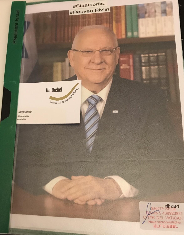 Staatspräsident von Israel Reuven Rivlin