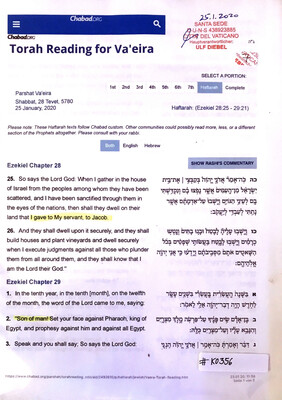 #K0356 l Torah Reading for Va'eira l January 2020, Chabad.org