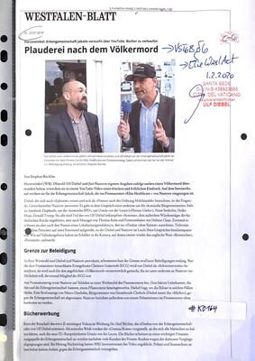 #K0164 l Harsewinkel l Westfalen-Blatt - Plauderei nach dem Völkermord