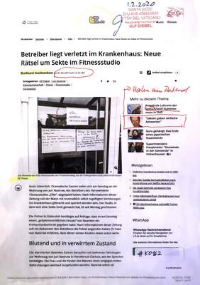 #K0162 l Betreiber liegt verletzt im Krankenhaus: Neue Rätsel um Sekte im Fitnessstudio