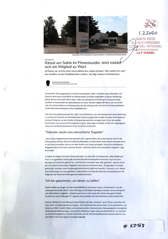 #K0168 l Harsewinkel - Rätsel um Sekte im Fitnessstudio: Jetzt meldet sich ein Mitglied zu Wort
