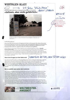 """#K0175 l Westfalen-Blatt l """"Seltsam, aber nicht gefährlich"""""""