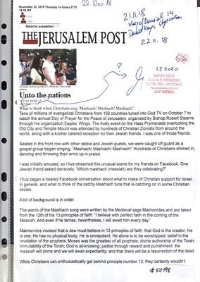 #K0198 l Jerusalem Post - Unto the nations