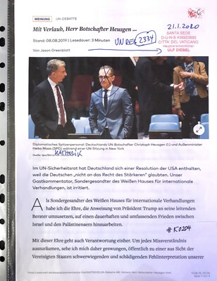 #K0204 l Welt - Mit Verlaub, Herr Botschafter Heusgen ...