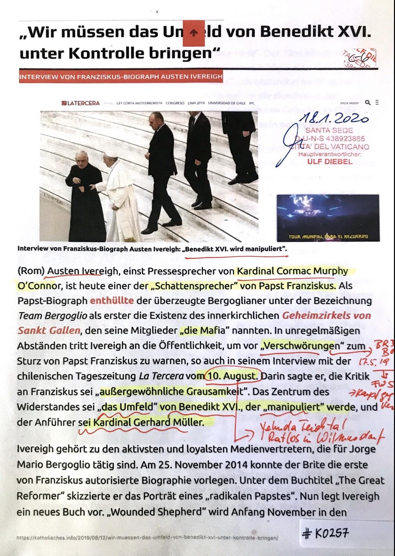 #K0257 l Interview von Franziskus-Biograph Austen Ivereigh: Benedikt XVI. wird manipuliert