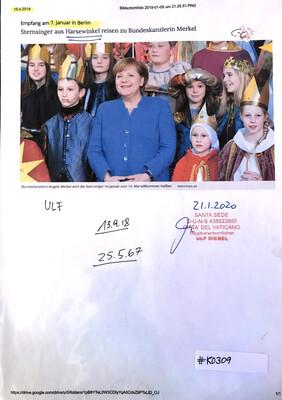 #K0309 l Berlin - Sternsinger aus Harsewinkel reisen zu Bundeskanzlerin Merkel