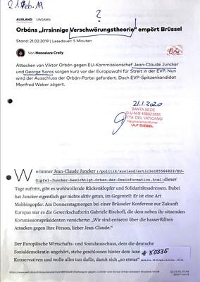 #K0335 l Welt - Orbáns irrsinnige Verschwörungstheorie empört Brüssel
