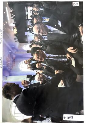 #K0087 l US-Botschafter Richard Grenell, World Jewish Congress - Chairman Ronald Lauder umzingeln SPD-Katholik Heiko Maas