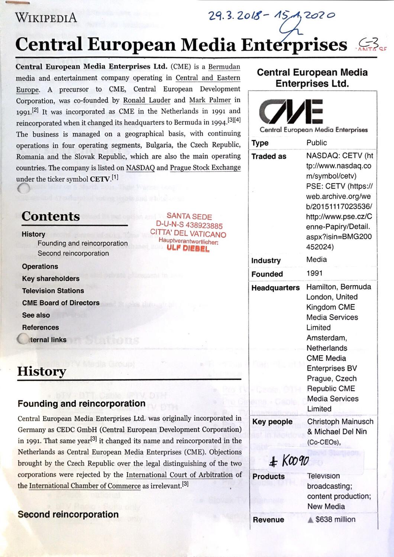 #K0090 l Central European Media Enterprise Ltd.