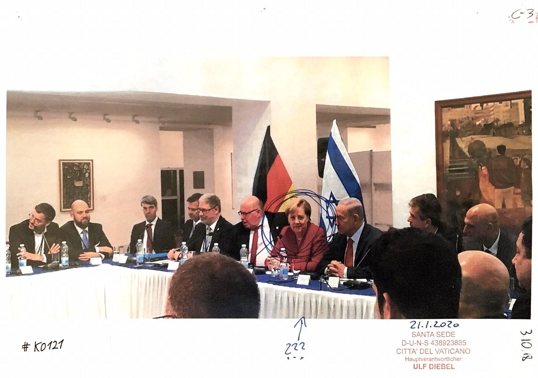 #K0121 l Benjamin Netanyahu und Angela Merkel