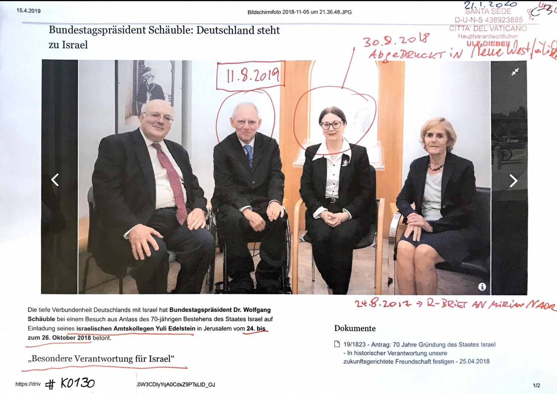"""#K0130 l """"Besondere Verantwortung für Israel"""" l 70 Jahre Israel l Bundestagspräsident Dr. Wolfgang Schäuble: Deutschland steht zu Israel - Einladung von Yuli Edelstein"""