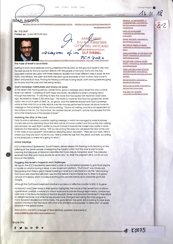 #K0075 l Israel Insights - Article by ICEJ Staff