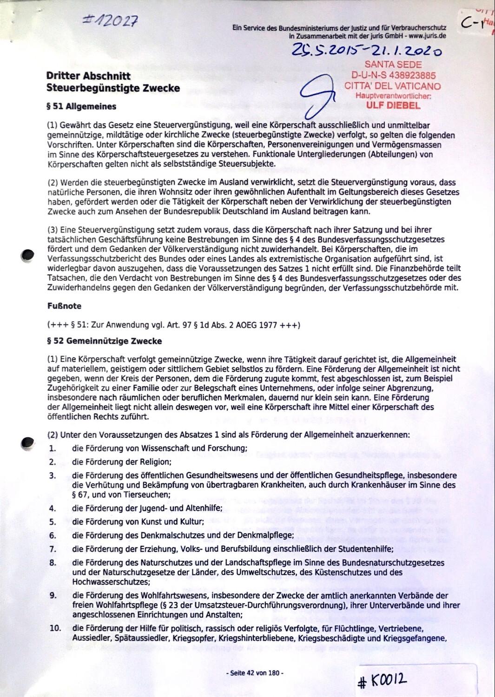 #K0012 l Dritter Abschnitt - Steuerbegünstige Zwecke l Bundesministerium der Justiz und für Verbraucherschutz in Zusammenarbeit mit der juris GmbH - www.juris.de