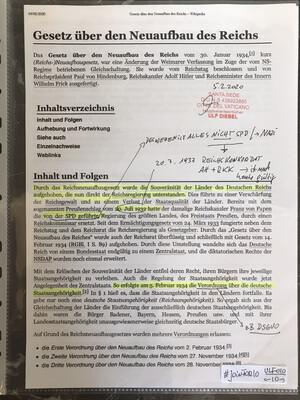 #U010 l Gesetz über den Neuaufbau des Reiches