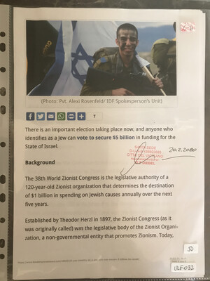 #U032 l BreakingIsraelNews - There is an important election taking place now, and anyone who identifies as a Jew can vote to secure $5 billion in funding for the State of Israel
