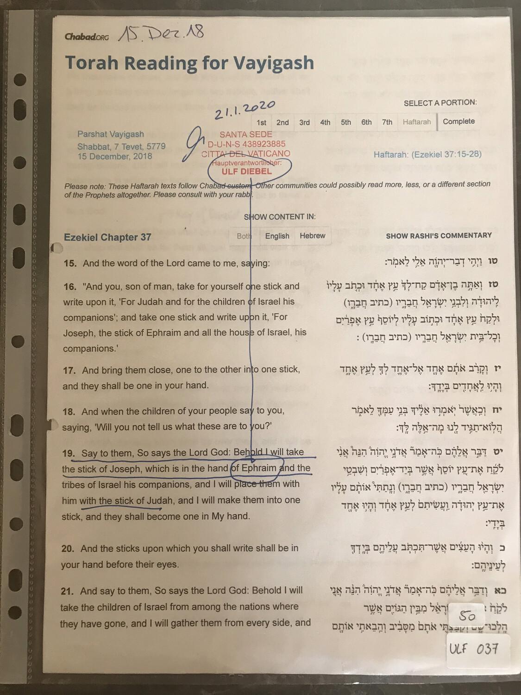 #U037 l Torah Reading for Vayigash - 7 Tewet 5779 l 15.December 2018