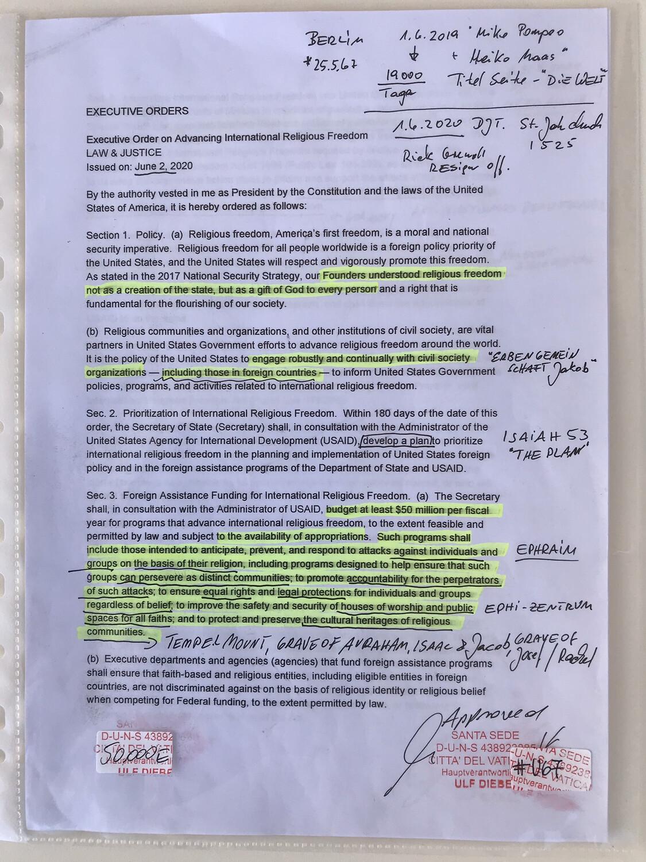 #U67 l Executive Order on Advancing International Religious Freedom