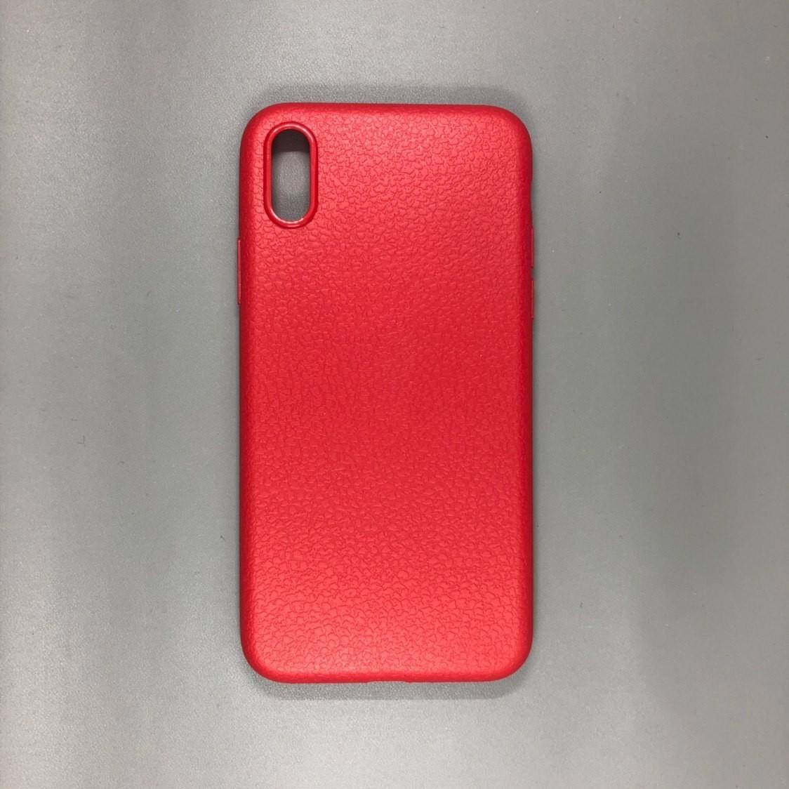 iPhone X Plastic Red