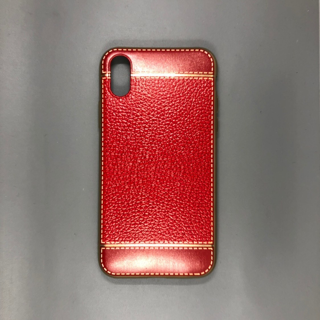 iPhone X Plastic Gold/Red