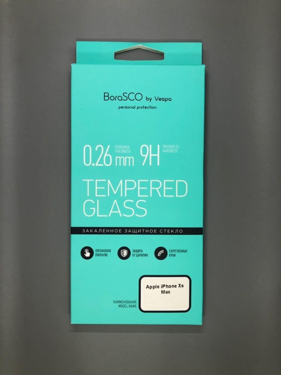 iPhone Xs Max BoraSco Tempered Glass Прозрачное