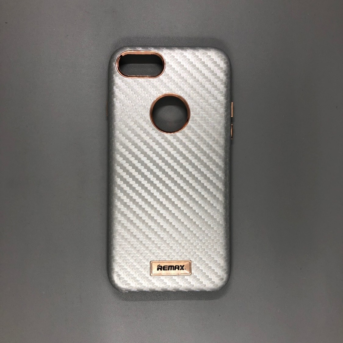 iPhone 7 Remax Silver Carbon