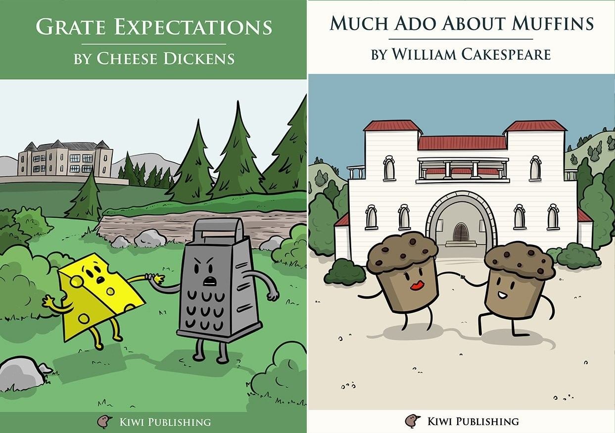 Pack of 6 Greeting Cards - Much Ado About Muffins / Grate Expectations