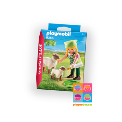 9356 Farmer with Sheeps 農夫與綿羊