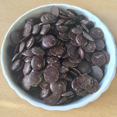 Chocolat bio 50% en 250 g (petits boutons)