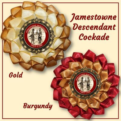Jamestowne Descendant Cockade