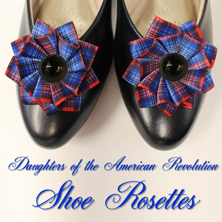 DAR Tartan Shoe Rosettes