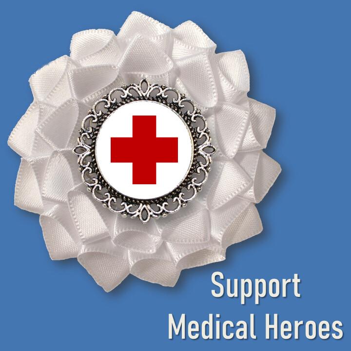 Support Medical Heroes Cockade
