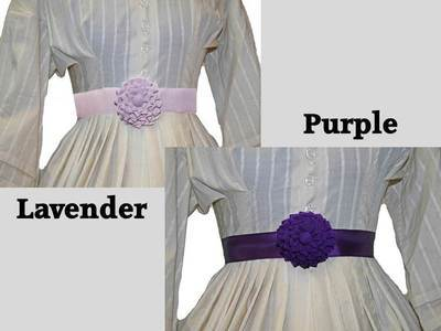 Shades of Purple - Petersham Rosette Belt
