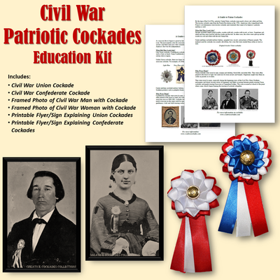 Civil War Patriotic Cockades - Education Kit