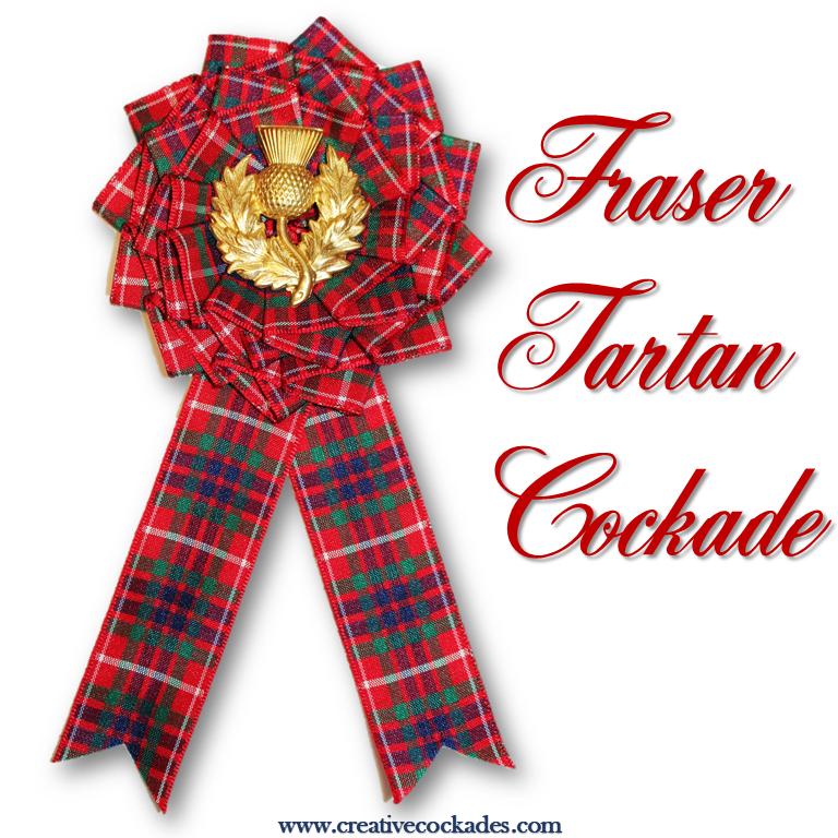 Fraser Tartan Cockade
