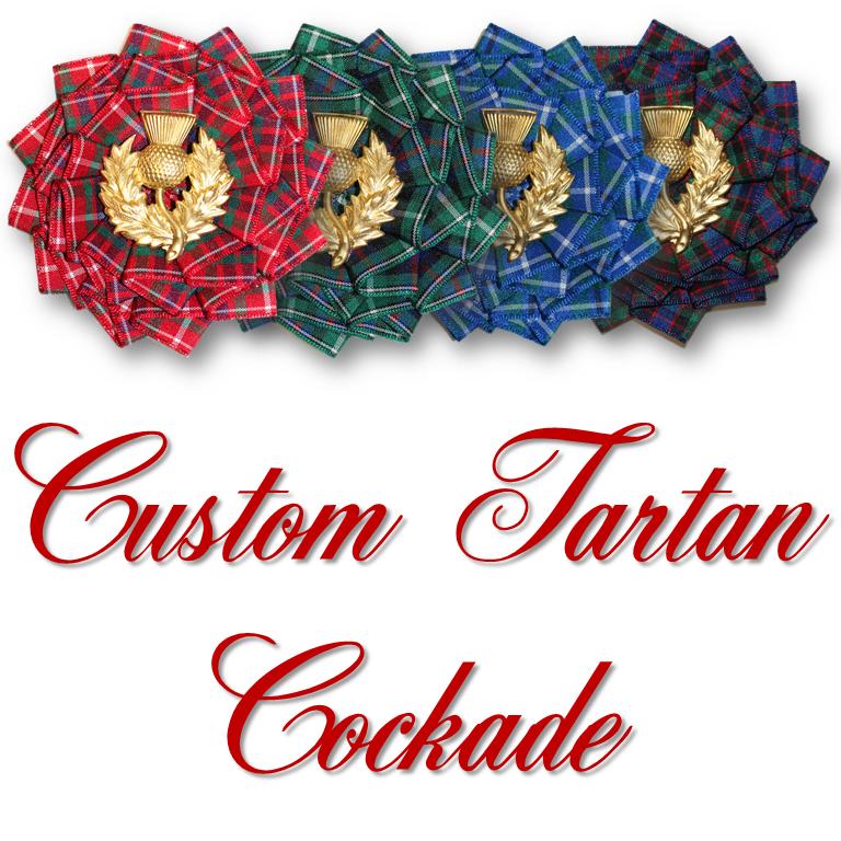 Two CUSTOM Tartan Cockades - Available in 4 weeks