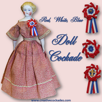 Red, White & Blue Doll Cockade