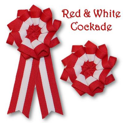 Red & White Cockade