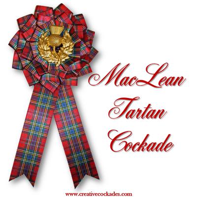 MacLean Tartan Cockade