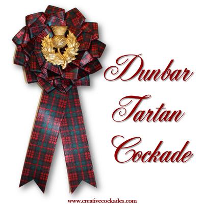 Dunbar Tartan Cockade