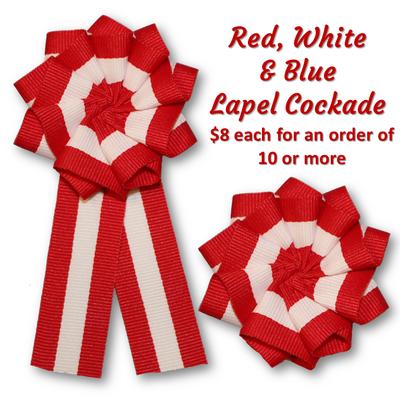 Red & White Lapel Cockade