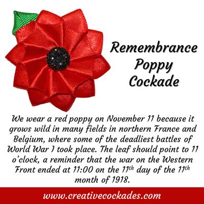 Remembrance Poppy Cockade