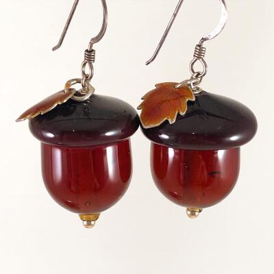 Acorn Earrings, Fall