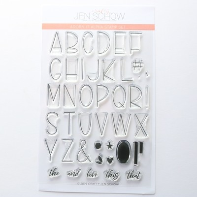 Adorn It Alpha 4x6 Stamp Set