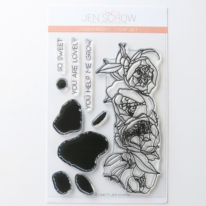 Lovely Peony 4x6 Stamp Set