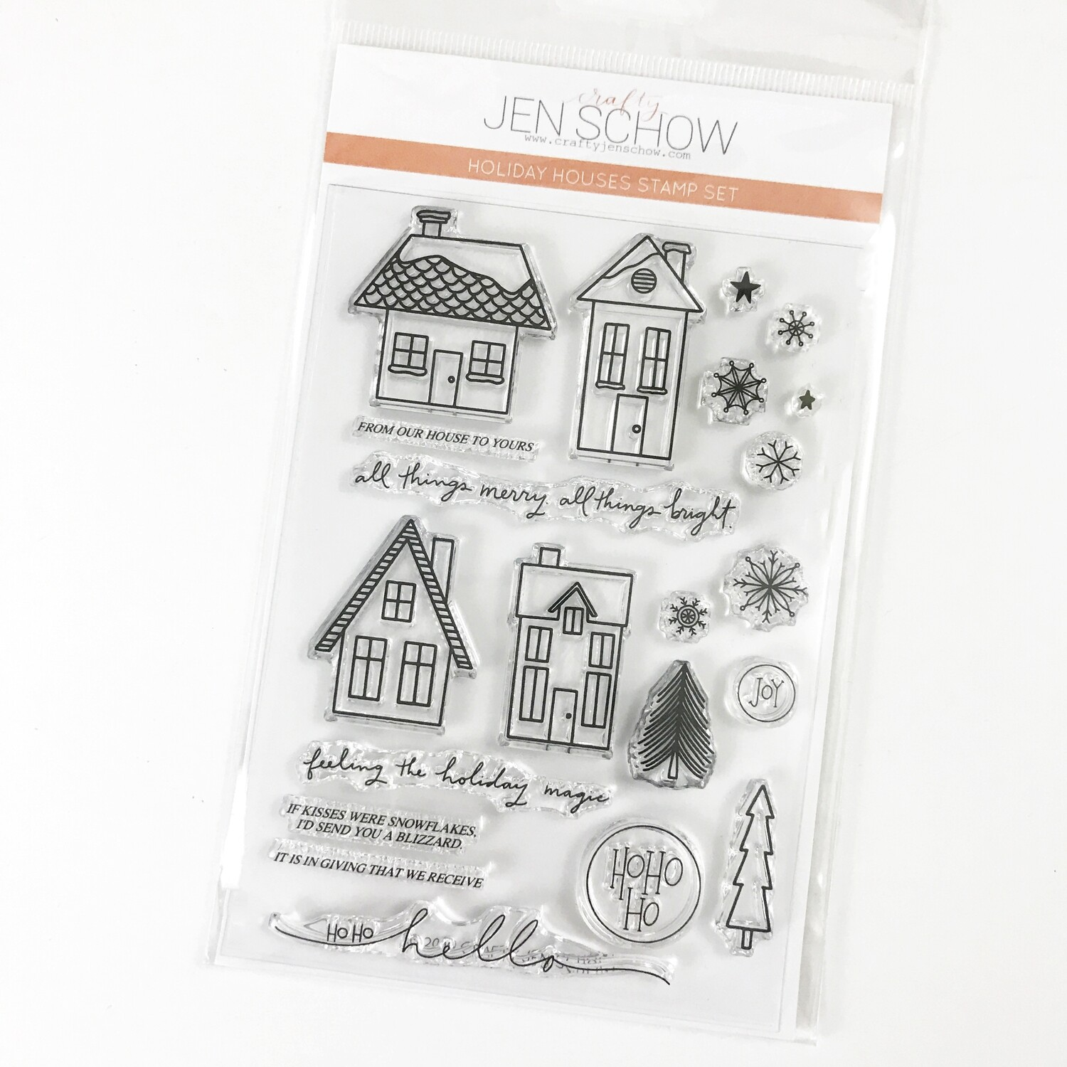 Holiday Houses 4x6 Stamp Set