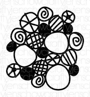 Messy Circles Background Cut File